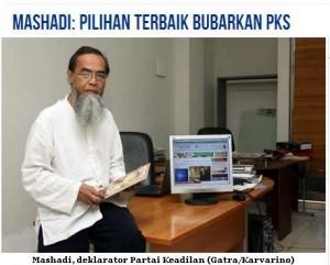 Ustadz Mashadi/foto Majalah Gatra