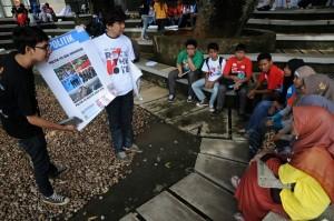 """Rock the Vote mengambil tema """"Aku untuk Nusantara"""", menggajak para mahasiswa seluruh Indonesia untuk berkontribusi dengan deklarasi publik, memberikan aspirasi politik dan terlibat untuk memperoleh pendidikan politik."""