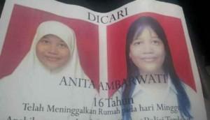 Foto Anita Ambarwati (16 tahun) semasih hidup yang menajdi korban pembunuhan