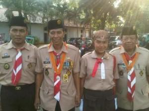 Ketua Kwartir Cabang Pramuka Kota Depok, Sariyo Sabani (kedua dari kiri)