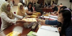 KPU Pusat menerima laporan dana kampanye parpol beberapa waktu lalu