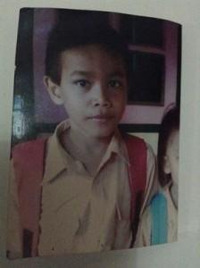 Ini foto anak hilang bernama YOBEL CLYDE KARAMOY saat ini berumur 15 tahun