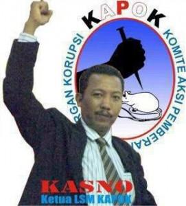 Ketua LSM Kapok, Kasno