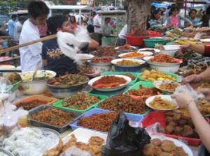 illustrasi pedagang makanan jajanan