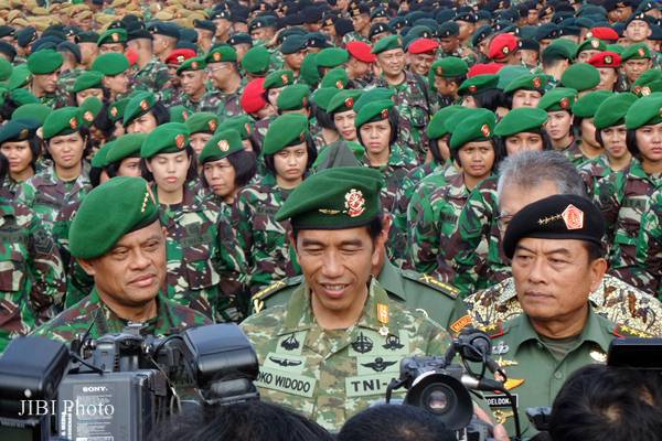 Image result for jokowi militer
